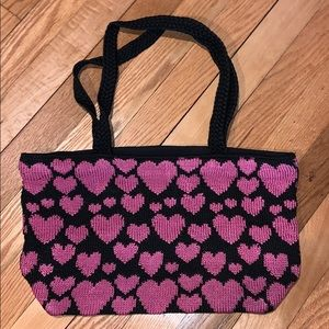 The sak knitted heart bag